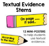 Textual Evidence Stems Mini-Posters