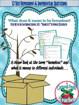 Textual Evidence and Inferences in a Non-Fiction Text: Homeless