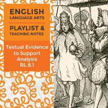 Textual Evidence to Support Analysis - RL.8.1 - Playlist and Teaching Notes