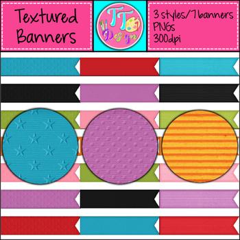 Texture Banners Clip Art CU OK