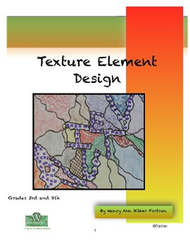 Texture Elements Design Visual Arts Project for Grades 3 to 8