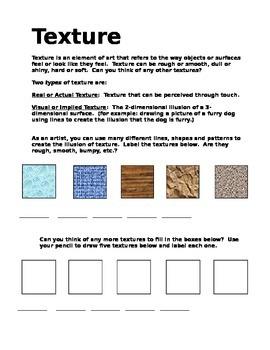 Texture: Elements of Art