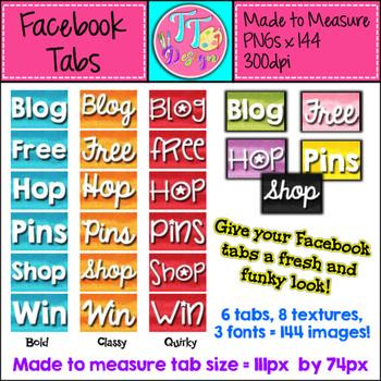 Texture Facebook Tabs ~ Made to Measure! Clip Art CU OK