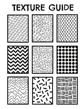 Texture Guide Idea Sheet