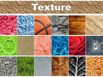 Texture (Implied vs. Actual) Power Point Presentation Less