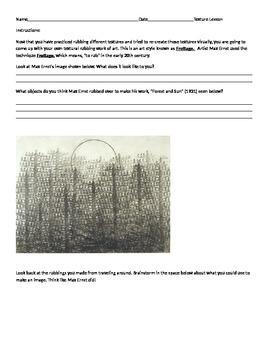 Texture Lesson: Visual Art