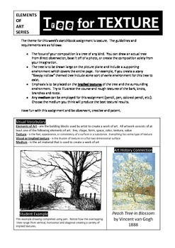 Sketchbook Assignment:  Implied Texture