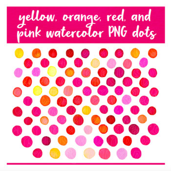 Texture Toolkit #1 - DAZZLING DOTS - PNG - 300dpi - Watercolor Clipart