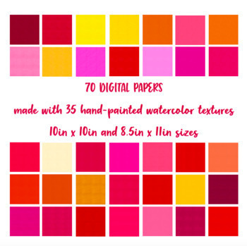 Texture Toolkit #1 - Digital Papers - PNG - Watercolor Textures - Clipart
