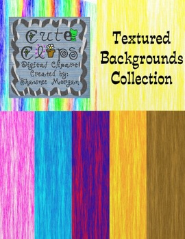 Textured Backgrounds Collection [Cute Clips Digital Clip Art]
