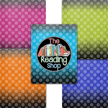 Textured Brights - Polka Dots - Ombre Digital Paper Backgrounds