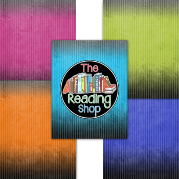 Textured Brights - Stripes - Ombre Digital Paper Backgrounds
