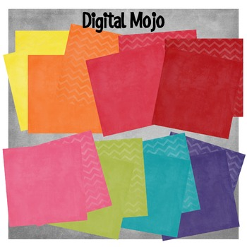 Textured Digital Paper in a Rainbow of Colors