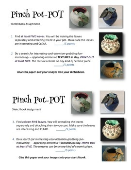 Textured Leaf Pinch Pot-Pot