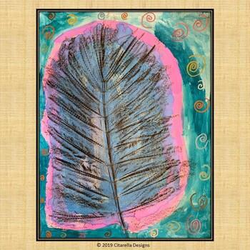 Textured Leaf Rubbing Art Lesson