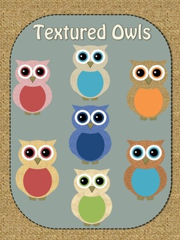 Textured Owls-Personal and Commercial Use