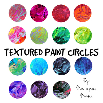 Textured Paint Circles