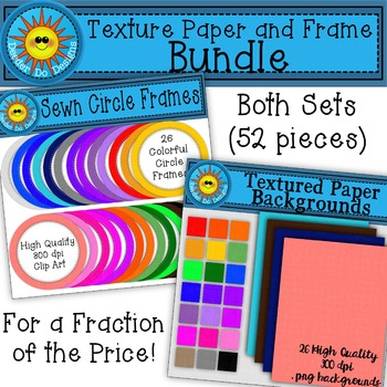 Textured Paper and Circle Frames Bundle