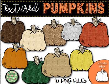 Textured Pumpkin Clip Art