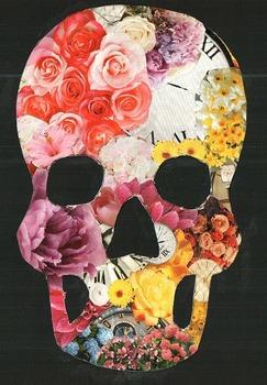 Textured Skull Collage