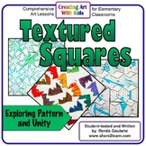 Art Lesson Textured Squares Math Integrated