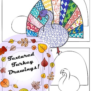 Textured Turkeys Drawing Project