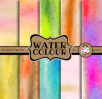 Textured Watercolor Paint Digital Paper Pack