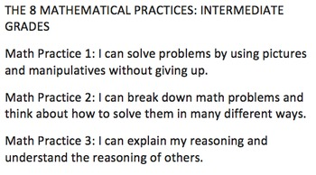 Th 8 Mathematical Practices in Student-Friendly Language