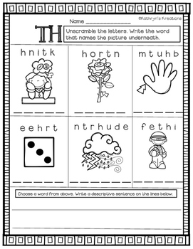 TH Digraph: Unscramble The Word