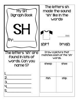 Th, Ch, Sh, Wh Digraph Booklets
