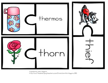 Th Digraph Puzzles - 21 Puzzles Included Plus Follow Up Activities