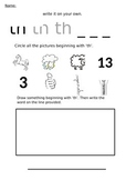 'Th' Phonic sound - Support Worksheet