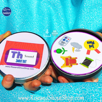 """Th Sound Matching Game SHOUT OUT; 31 Printable 3"""" cards"""