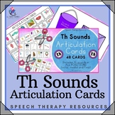 Th Sounds - Articulation Cards with Visual Cues - Speech Therapy - All Positions