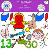 Th Sounds (Digraph): Beginning Sounds Clip Art