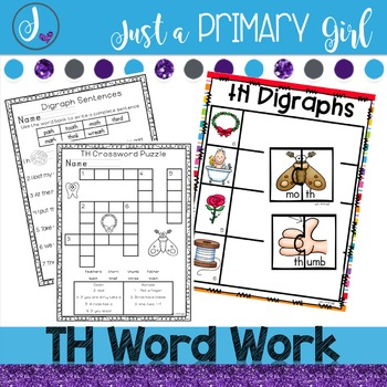 Th Digraph Word Work,