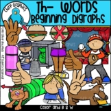 Th Words Beginning Digraphs Clip Art Set
