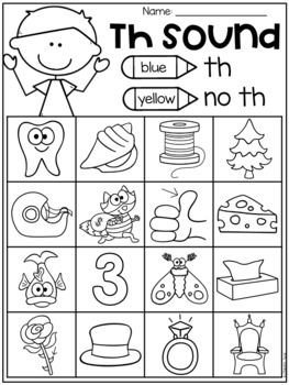 Th Worksheet Packet - Digraphs Worksheets