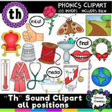 Th sound clipart all positions - 100 images! For personal