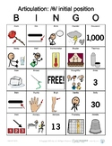 Th (voiceless) initial position Articulation Bingo with Sy