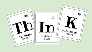 ThInK Element Word Poster