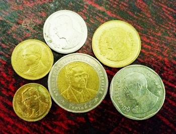 3 Sets of Thai Baht Coins ( Thai Currency)for Learning & C