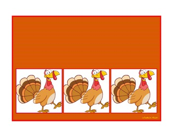 Thanksgiving CVC Sound Boxes ~ 6 Different Themes Included!