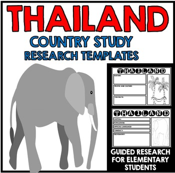 Thailand Country Study Research Project Templates