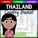 Thailand Copywork, Activities, and Country Booklet