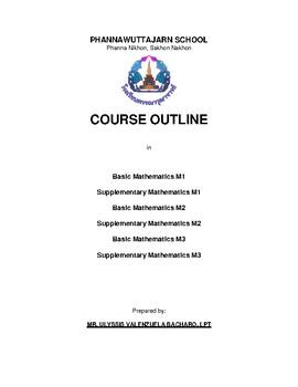 Thailand Education Mathematics Syllabus for Matthayom 1,2 and 3 First Term