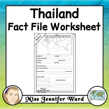 Thailand Fact File Worksheet