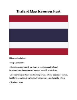 Thailand Map Scavenger Hunt