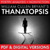 Thanatopsis, William Cullen Bryant, Multimedia Poem Analysis, PDF & Google, CCSS