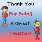 Thank A Teacher Class Book in Google Slides™